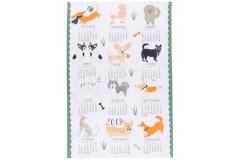 Now Designs Canine Year Calendar Dish Towel