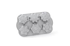 Nordic Ware Cast Aluminum Frozen Snowflake Cakelet Pan