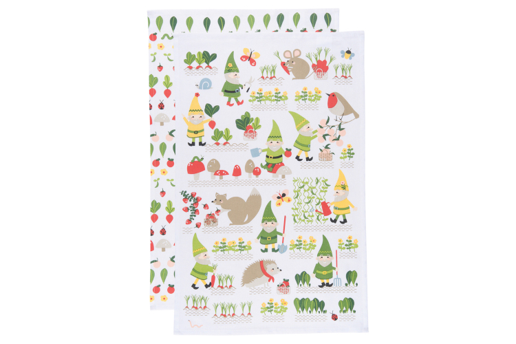 Now Designs Gnome Sweet Gnome Dishtowels Set Of 2