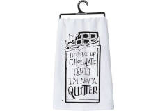 Primitives by Kathy CHOCOLATE QUITTER TOWEL