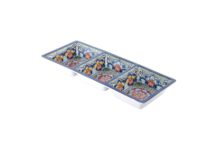 Prepara 3-Section Serving Tray Blue