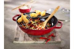 Staub Cast Iron 4.5 Quart Perfect Pans with Glass Lid