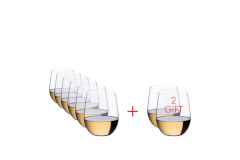 RIEDEL O Wine Tumbler Viognier/Chardonnay - Set of 8