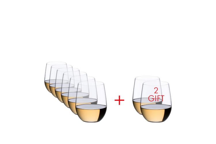 RIEDEL O Wine Tumbler Viognier/Chardonnay - Set of 8