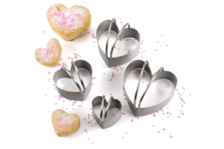 RSVP Endurance Heart Shape Biscuit Cutters - Set of 4
