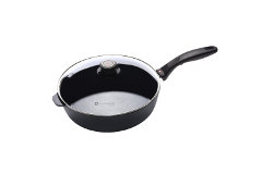 Swiss Diamond HD Classic Nonstick 3.2 Quart Sauté Pan with Lid