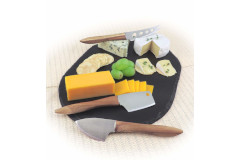Swissmar 3-Piece Acacia Cheese Knife Set