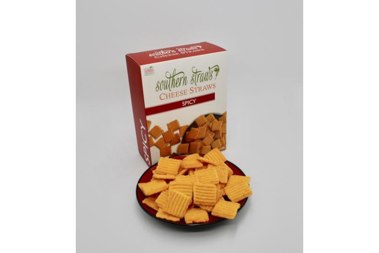Southern Straws Spicy Cheddar Wafers