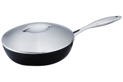 Scanpan Professional Nonstick Sauté Pans with Steel Lid
