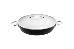 Scanpan Professional Nonstick 4.25 Quart Chef's Pan with Steel Lid