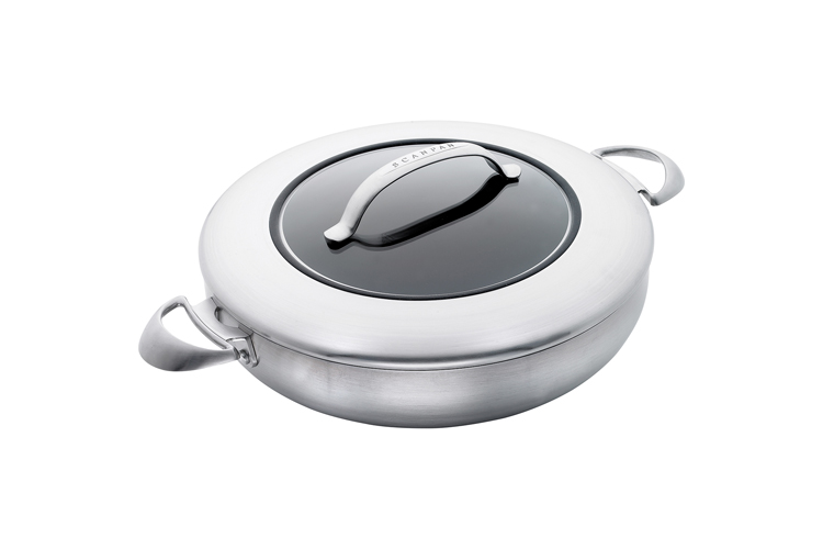 Scanpan CTX Stainless Steel Nonstick 5.5 Quart Chef's Pan with Lid