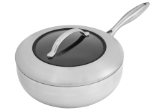 Scanpan CTX Stainless Steel 4 Quart Deep Nonstick Sauté Pan