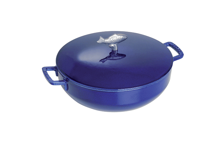 Staub Cast Iron 5 Quart Bouillabaisse Pot - Dark Blue