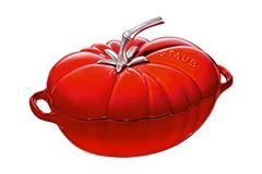 Staub Enameled Cast Iron 3 Quart Tomato Cocotte