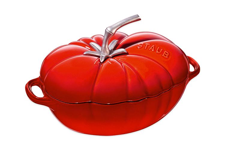 Staub Enameled Cast Iron 3 Quart Tomato Cocottes