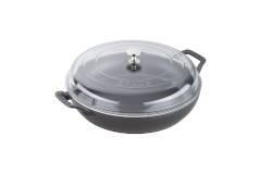 Staub Cast Iron 3.5 Quart Braisers with Glass Lid