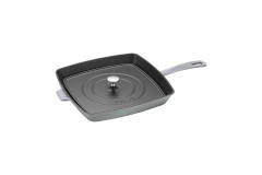 "Staub Cast Iron 12"" Square Grill Pan and Press Sets"
