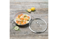 "Greenpan Venice Pro Stainless Steel 12"" Ceramic Nonstick Everyday Pan w/Lid"