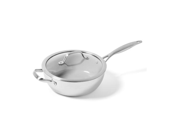 Greenpan Venice Pro Stainless Steel 3.5 Quart Ceramic Nonstick Chef's Pan w/Lid