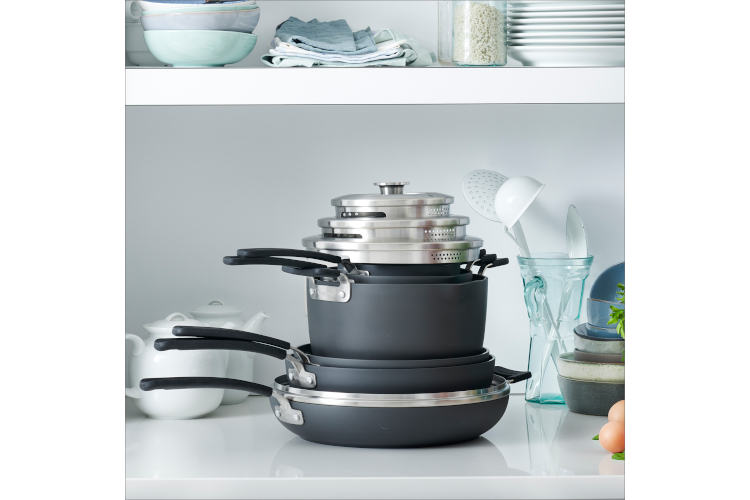 Greenpan Levels Hard Anodized 11-Piece Stackable Ceramic Nonstick Cookware Set