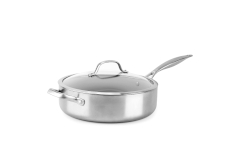 Greenpan Venice Pro Stainless Steel 5 Quart Ceramic Nonstick Saute w/Lid
