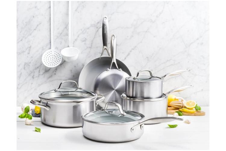 Greenpan Venice Pro 10-Piece Ceramic Nonstick Cookware Set