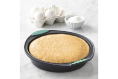 "Trudeau Structured Silicone™ 9"" Round Cake Pan Mint"