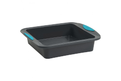 """Trudeau Structured Silicone™ 8"""" x 8"""" Cake Pan - Mint"""