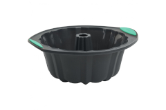Trudeau Structured Silicone™ 10-Cup Fluted Cake Pan - Mint