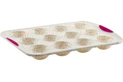 Trudeau Structured Silicone™ 12 Dome Cake Pan White Confetti