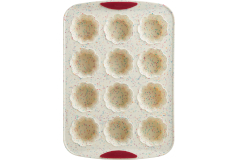 Trudeau Structured Silicone™ 12-Count Flower Muffin Pan - White Confetti (Set of 2)