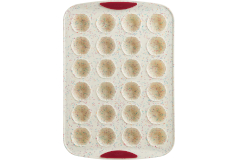 Trudeau Structured Silicone™ 24-Count Mini Flower Muffin Pan - White Confetti (Set of 2)