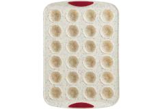 Trudeau Structured Silicone™ 24-Count Mini Flower Muffin Pan - White Confetti (Set of 2)