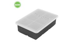 Tovolo King Cube™ Ice Tray with Lid - Charcoal
