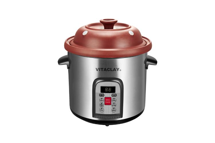 VitaClay Organic Clay 6 Quart Multi-Crock-n-Stock Pot