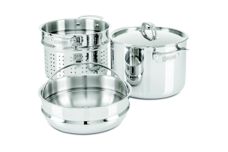 Viking 3 Ply 8 Quart Multi Cooker Pasta Pot With Steamer