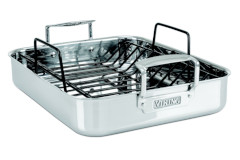 "Viking 3-Ply 16""X13""X3"" Roasting Pan with Non-Stick Rack"