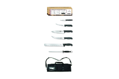 Victorinox Fibrox Pro 7-Piece BBQ Knife Roll Set