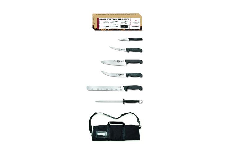 Victorinox Fibrox Pro 7-Piece BBQ Knife Roll Set