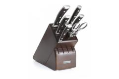 Wusthof Ikon Blackwood Rebrand 7-Piece Knife Block Set
