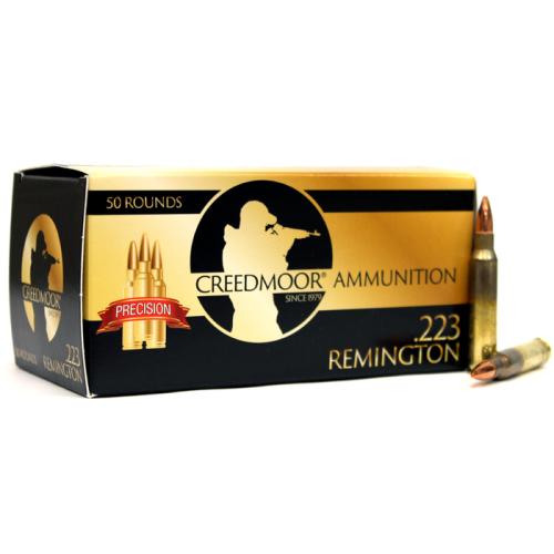 Creedmoor .223 55 Gr FMJ Ammunition In Creedmoor Brass