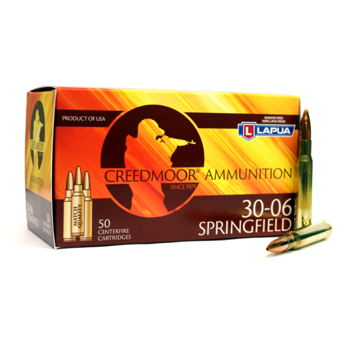 Creedmoor .30-06 167 Gr Ammunition In Lapua Brass (50 Ct)
