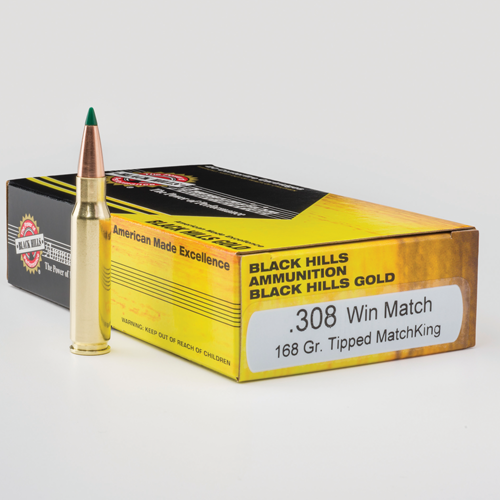 Black Hills Gold .308 168 Gr. TMK Ammunition