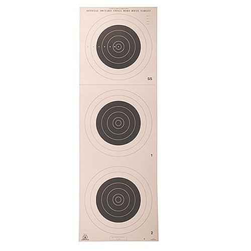 100yd Rifle 3 Bull A-25 Smallbore Target