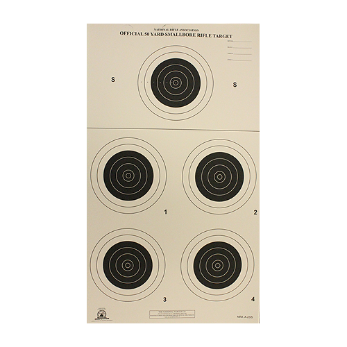 50yd Rifle 5 Bull A23/5 Smallbore Target