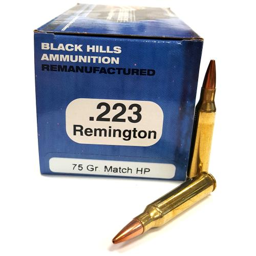 Black Hills Ammo .223 75 Gr. Reman