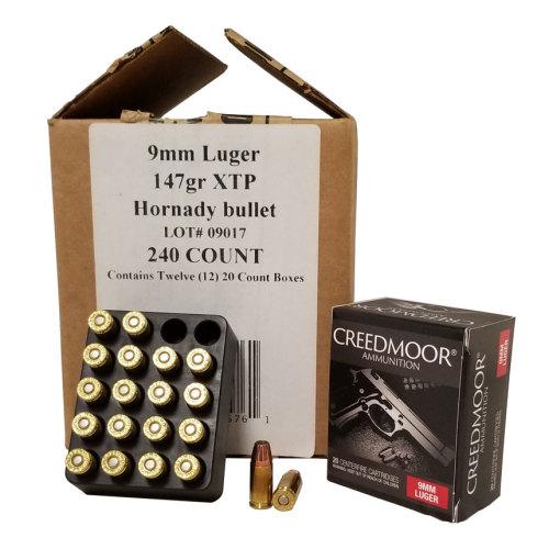 9mm Luger 147 Gr XTP Creedmoor Pistol Ammo 240 Ct