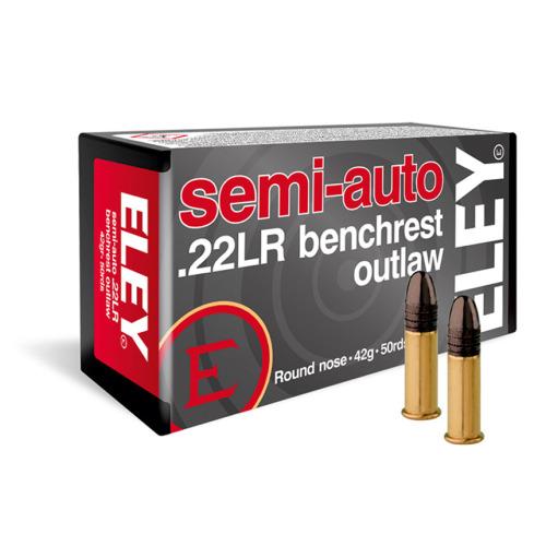 Eley Semi Auto Benchrest Outlaw .22 LR Ammunition
