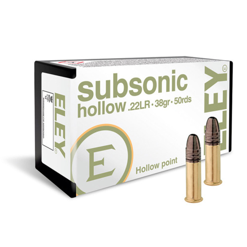 Eley Subsonic HP .22 LR Ammunition