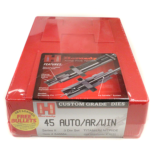 Hornady 3 Die Set 45 Auto/ar/win Mg (.451)